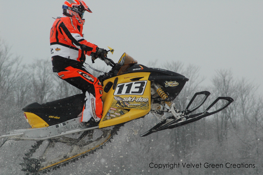Snowmobile Racing in Newberry